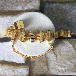 Pandora bee crown Reflexions charm bracelet